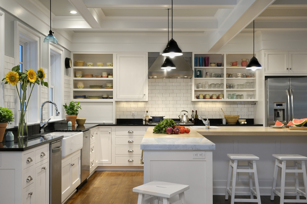 Farmhouse Kitchen L Shape