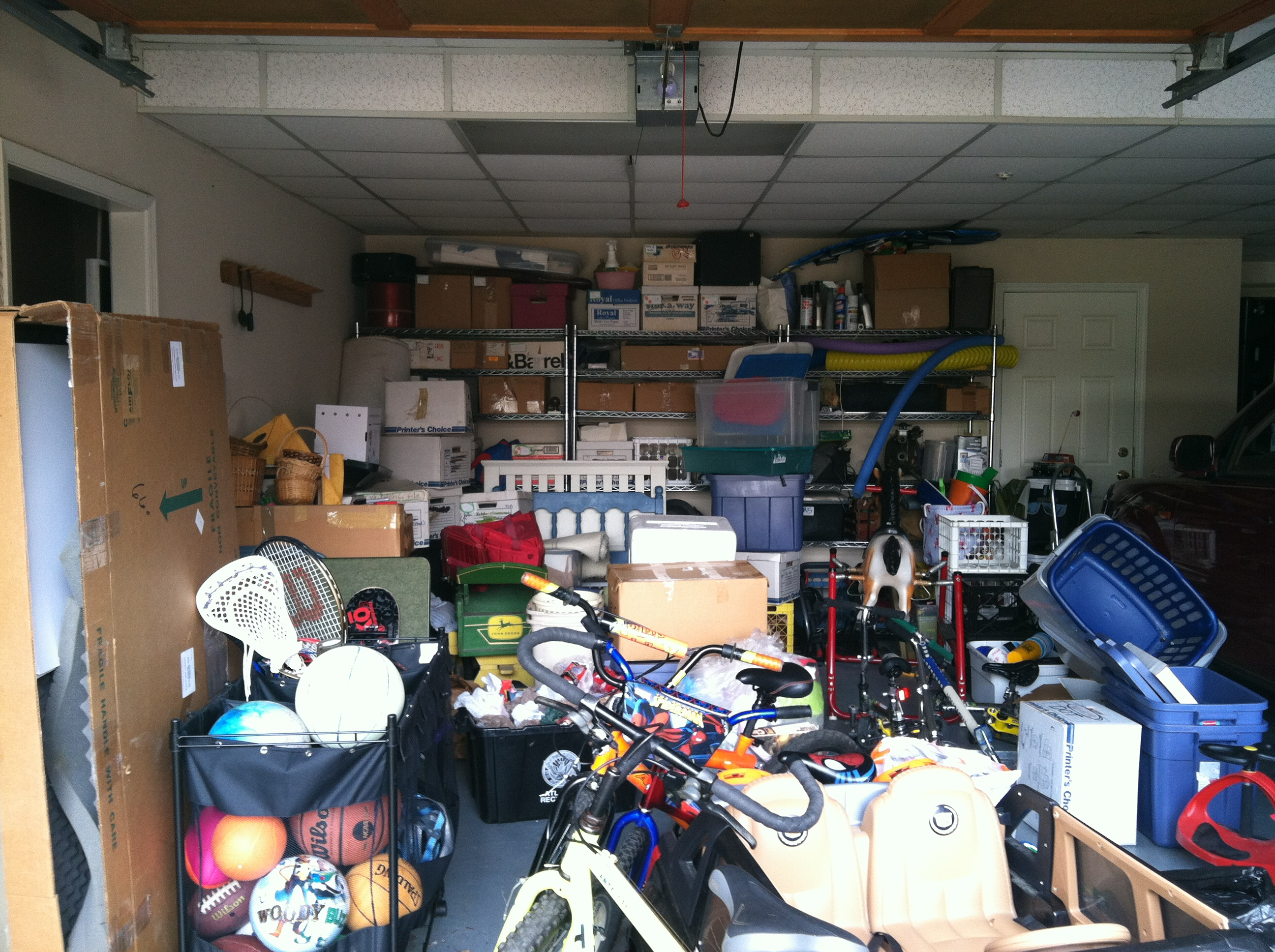 Garage Before - Storage Solutions: How to make the most of even your most meager free space