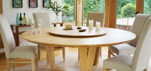 lazy susan table 300x141 - Choosing Your Dining Room Table