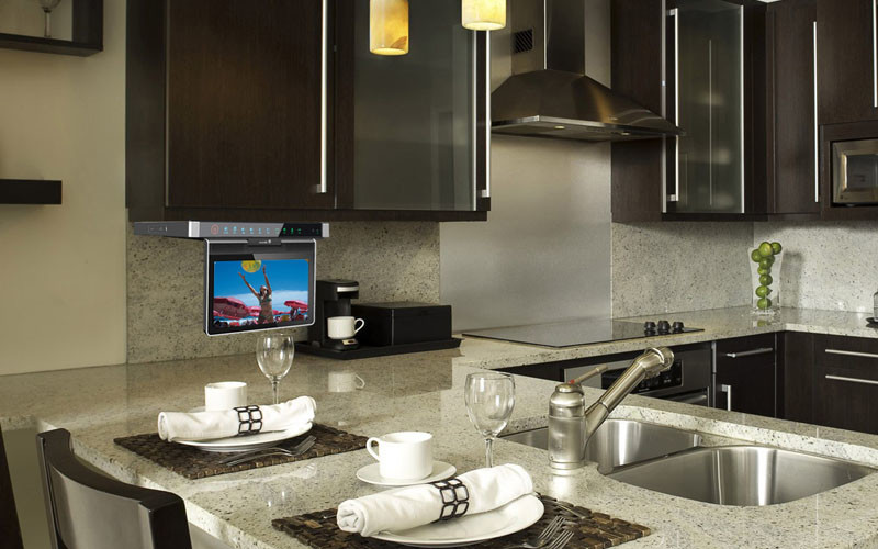 contemporary kitchen - Watch While You Eat