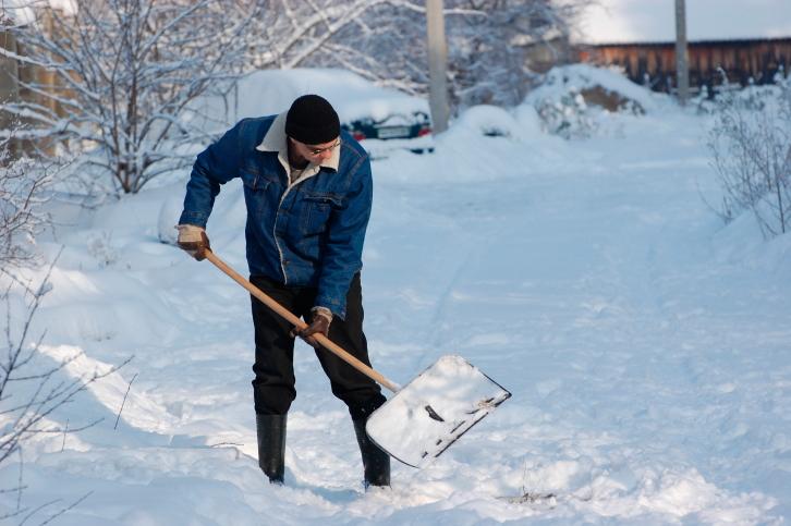 snow shoveling - Surviving a Sub-Zero Season