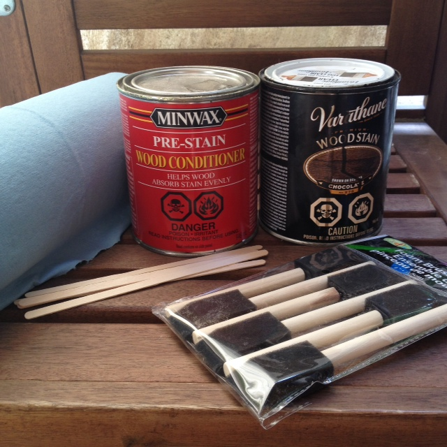 cabinet staining materials