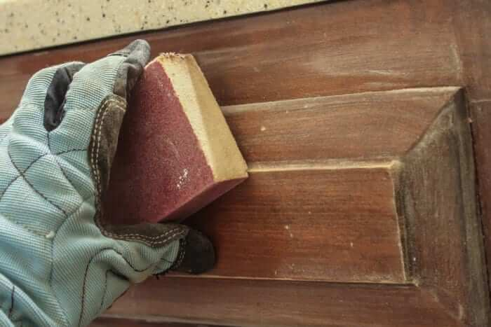 staining cabinet prep