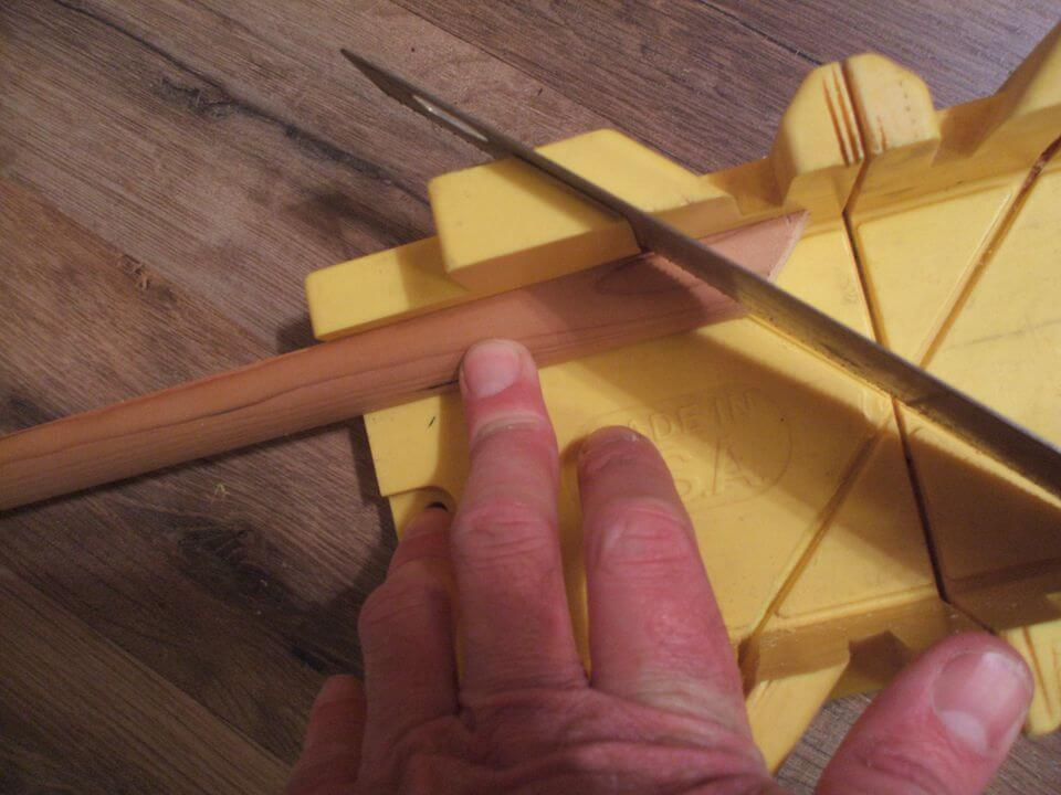 cutting molding angle in miter box - Home Improvement DIY Tips for Quarter Round Molding