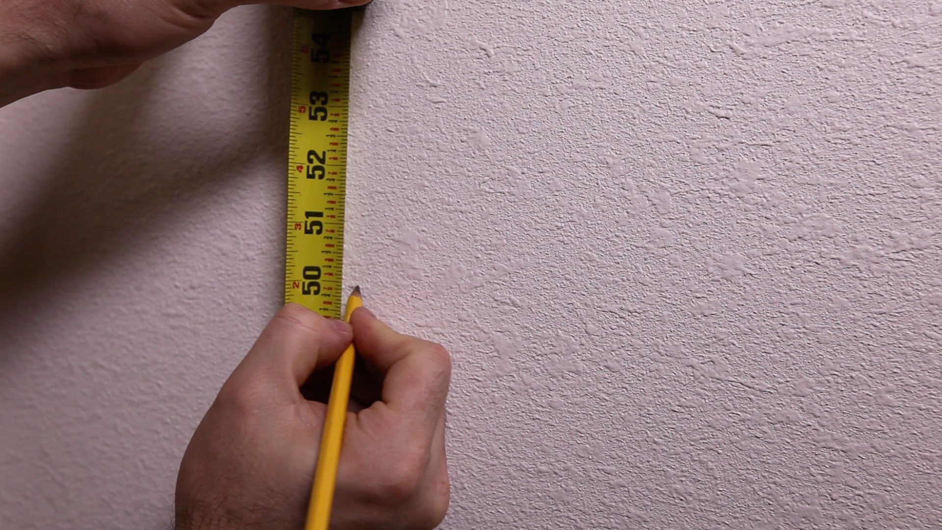 tape measure marking wall - Making Loft & Bunk Bed Storage with RTA Cabinets Part 1