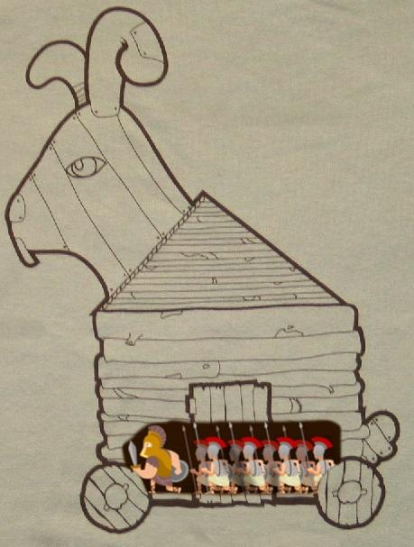 trojan rabbit side view greek soldiers - DIY Ideas: Make Your Own Ten Ton Trojan Easter Bunny