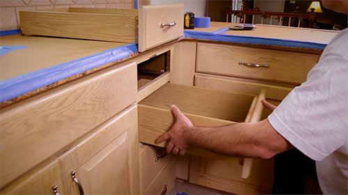 cabinet refacing remove drawers - Actual Expense in Your Next Refacing Project